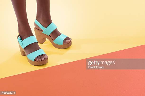 Colourful and footwear
