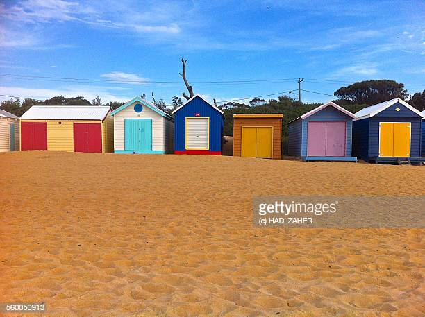Colourful Bath Boxes | Mornington Peninsula Beach