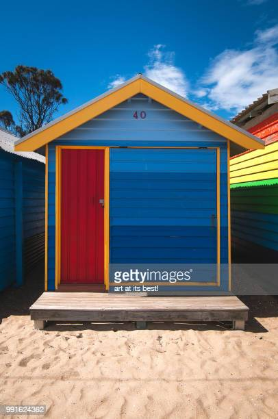 Colourful beach hut