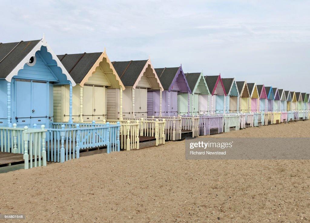 Colourful Beach Huts : Stock Photo