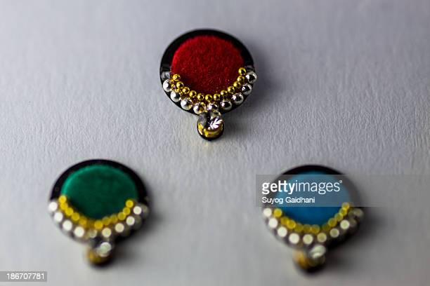 Colourful bindis