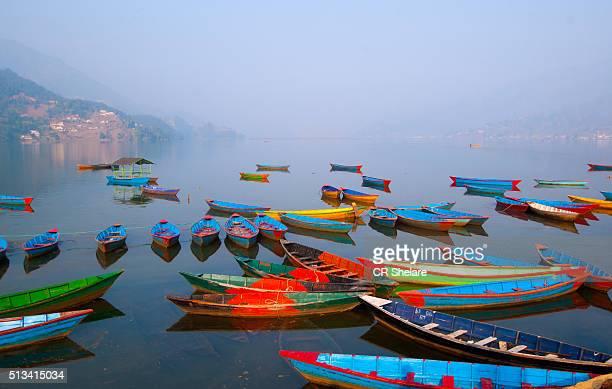 Colourful Boats In Phewa Lake, Pokhara
