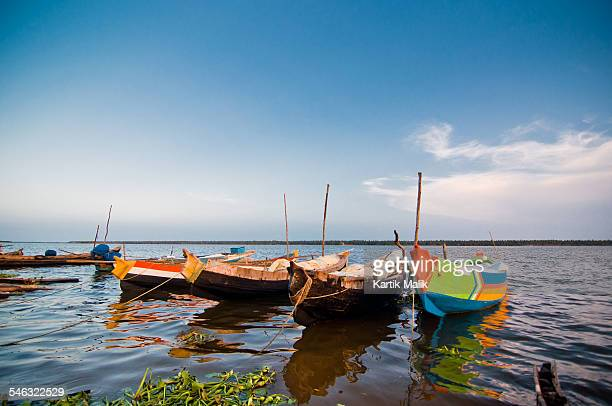 Colourful Boats in River Godavari