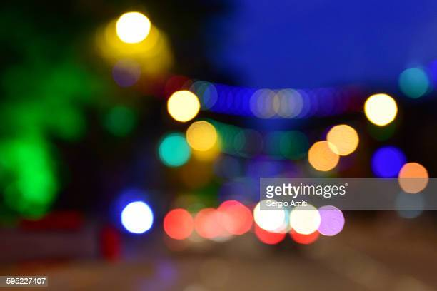 Colourful bokeh lights