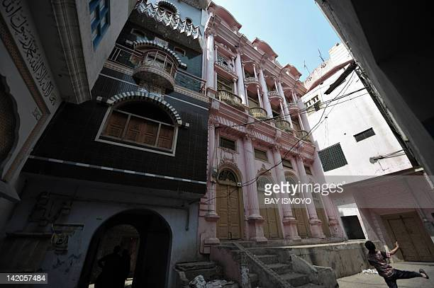 Colourful buildings are pictured in the old town section of Multan on March 17 2012 Multan one of the oldest cities in the Asian subcontinent and...