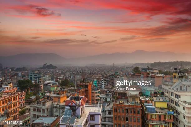 colourful buildings of kathmandu, nepal. - kathmandu stock pictures, royalty-free photos & images