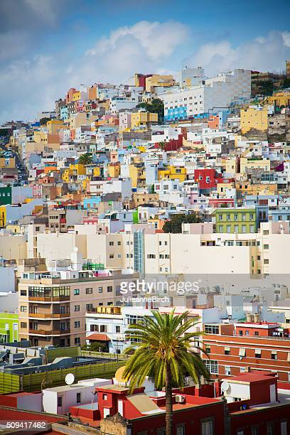 colourful buildings of las palmas - las palmas de gran canaria stock pictures, royalty-free photos & images