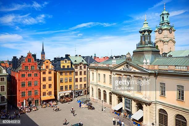 Colourful buildings Stortorget, Stockholm, Sweden
