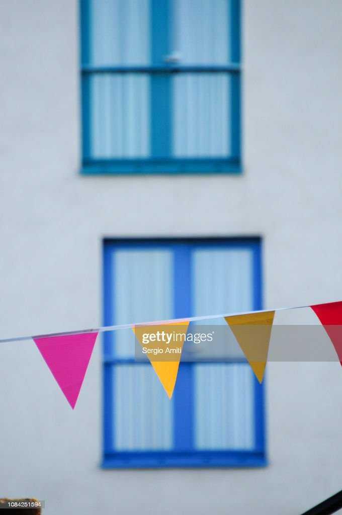 Colourful bunting flags : Stock Photo