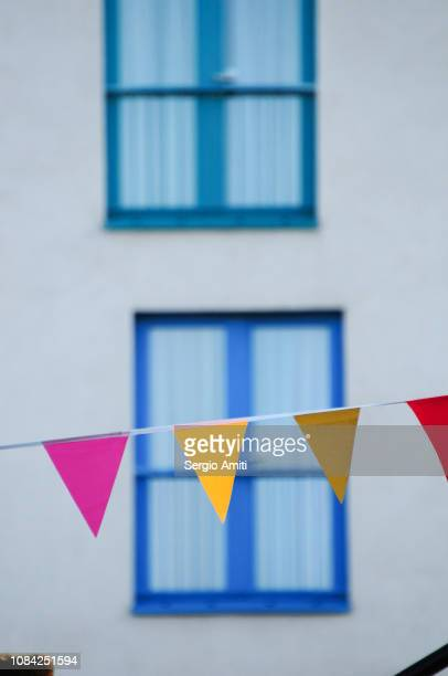 Colourful bunting flags