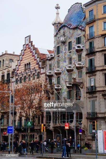 Colourful Casa Batlló and Casa Amatller, Barcelona, Spain