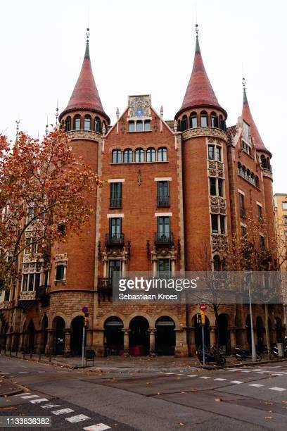 Colourful Casa de les Punxes Building, Barcelona, Spain