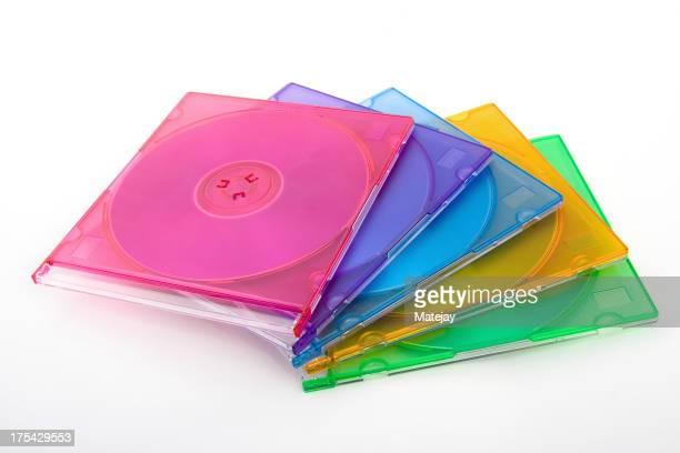 カラフルな CD の場合