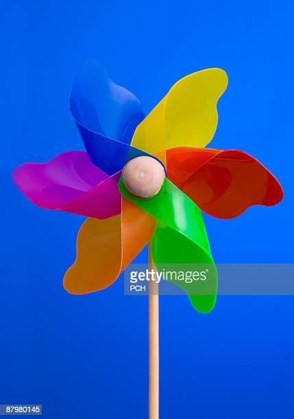 Colourful childrens windmill
