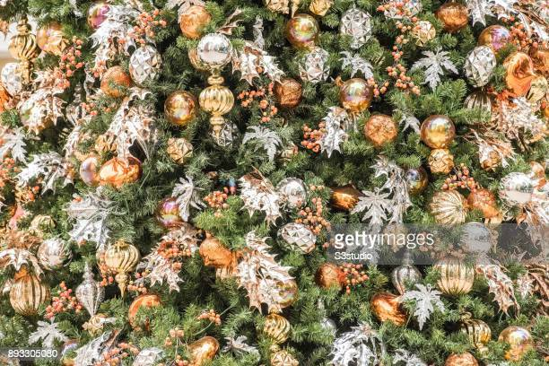 Colourful Christmas festive decoration in Hong Kong Statue Square in city's Central district on December 13 2017 in Hong Kong Hong Kong Hong Kong...