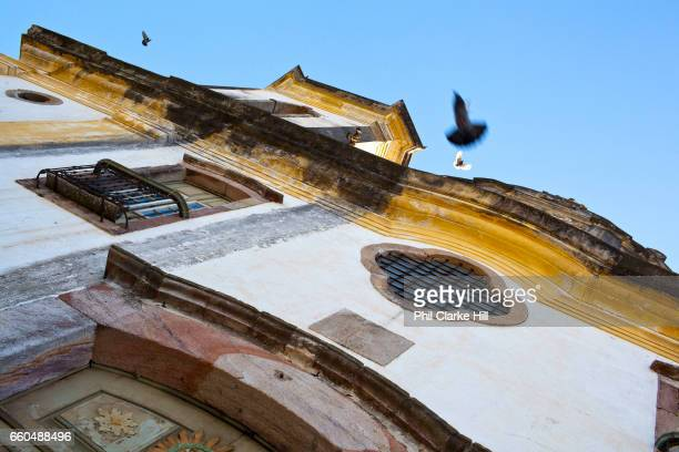 Colourful Colonial buildings in the city centre of Ouro Preto, in the state of Minas Gerais, Brazil. Ouro Preto, meaning black gold, was an important...