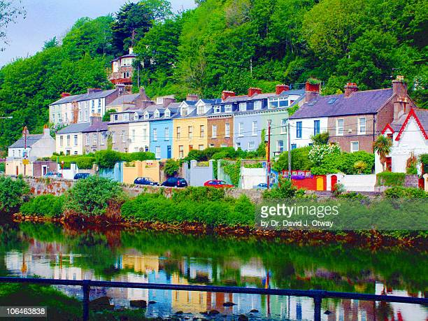 colourful cork houses - cork material stock photos and pictures