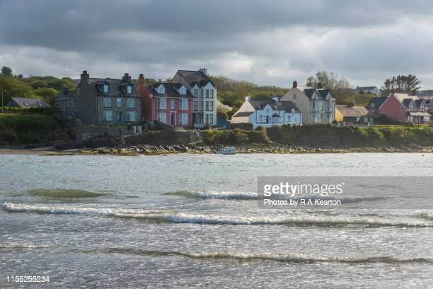colourful cottages at newport parrog, pembrokeshire, wales - newport wales photos stock pictures, royalty-free photos & images