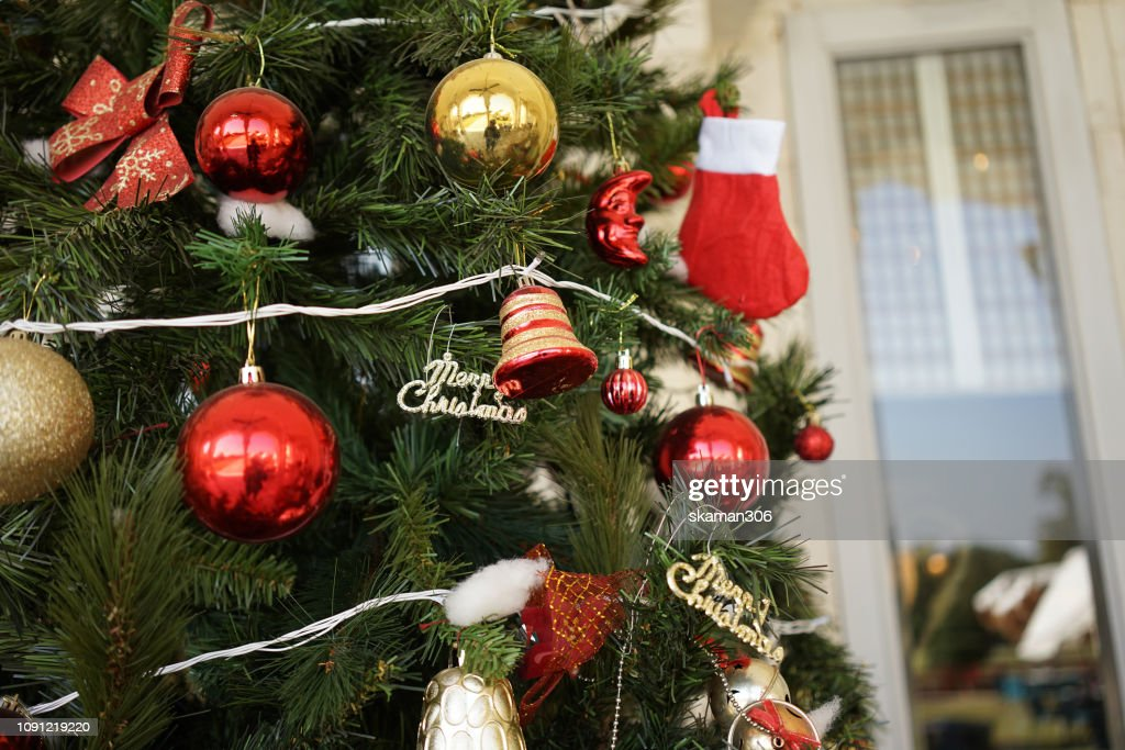 Christmas Tree In India.Colourful Decoration Of Christmas Tree In Rajasthan India