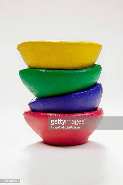 Colourful diyas