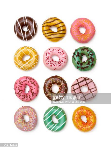 colourful doughnuts - abundance stock pictures, royalty-free photos & images
