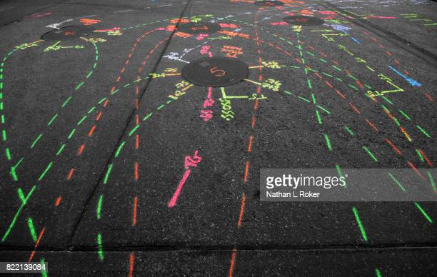 A colourful example of an underground utility survey or utility mapping.