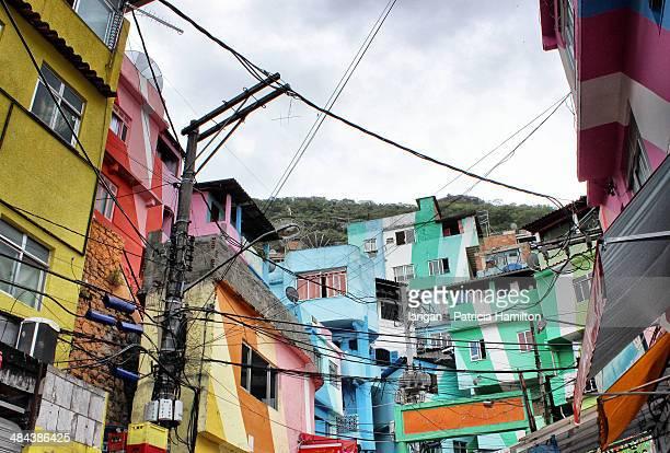 Colourful favela, Rio de Janeiro