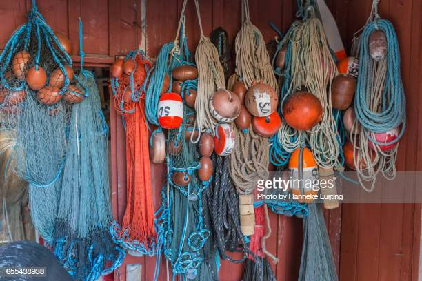 Colourful fishing gear