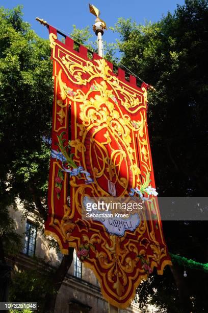 Colourful Flag, Close Up, Republic Street, Valletta, Malta