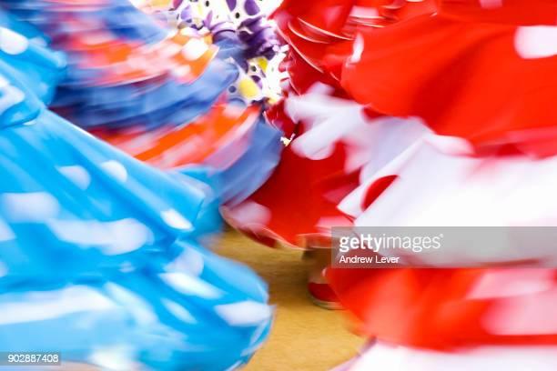 colourful flamenco dresses - flamenco stock photos and pictures