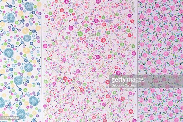 colourful flower doodles - サットンコールドフィールド ストックフォトと画像