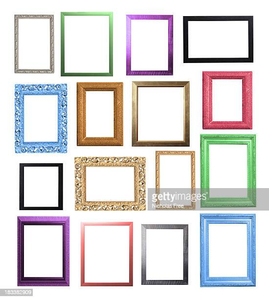 colourful frame selection - frame stock pictures, royalty-free photos & images