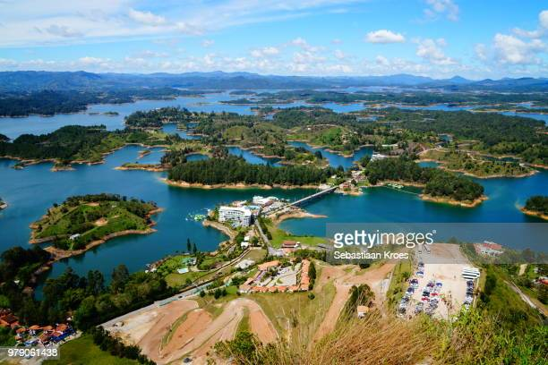 colourful guatapé area, nature, lakes and islands, colombia - guatapé stock pictures, royalty-free photos & images