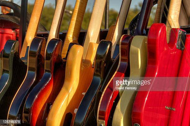 colourful guitars - grand prairie texas stock photos and pictures