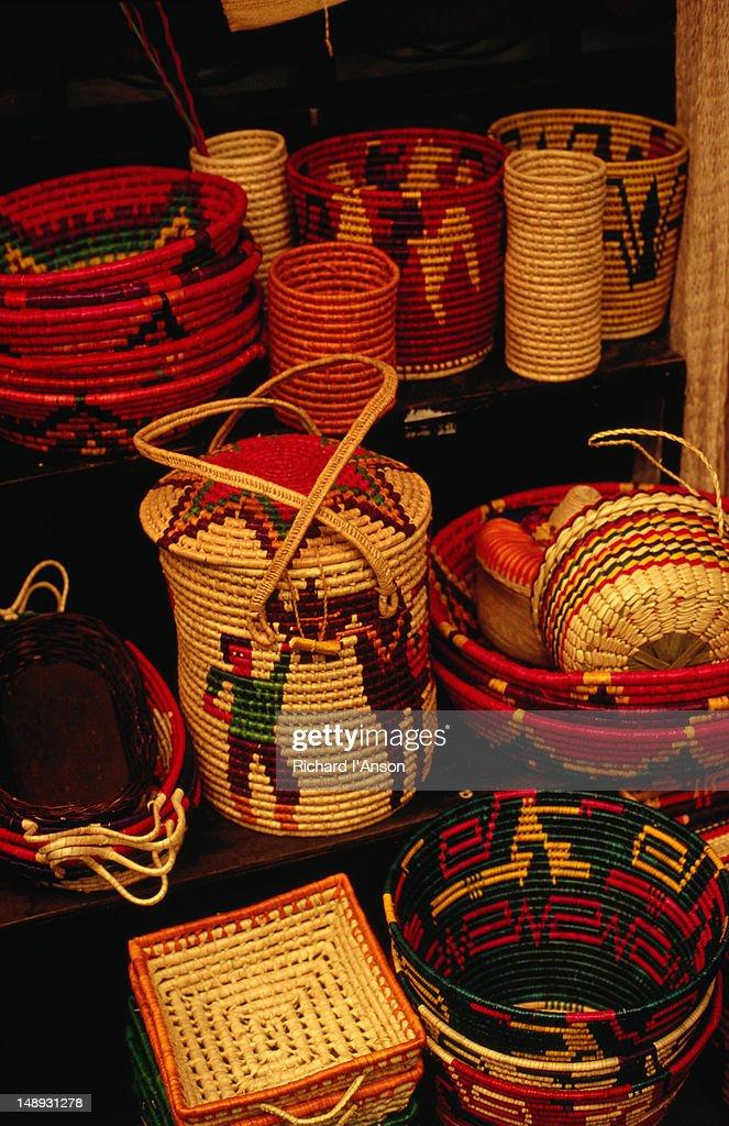 Colourful Hand Woven Baskets From Centro De Artesanias La Ciudadela ...