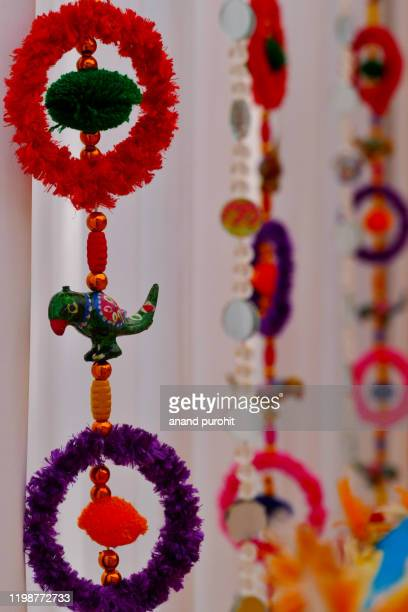 colourful handicraft art gujarat, india - art and craft stock pictures, royalty-free photos & images