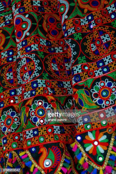 colourful handicraft art, india - embroidery stock pictures, royalty-free photos & images