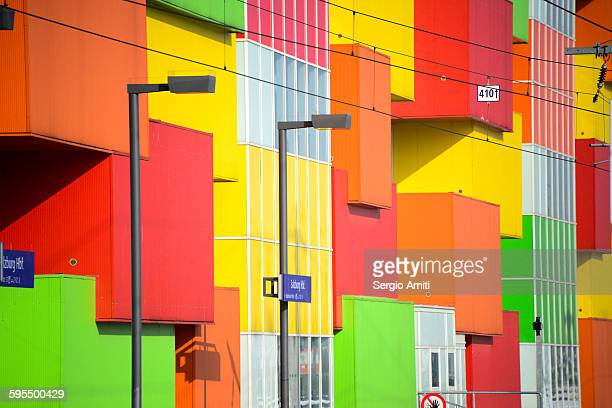 Colourful houses by Salzburg train station