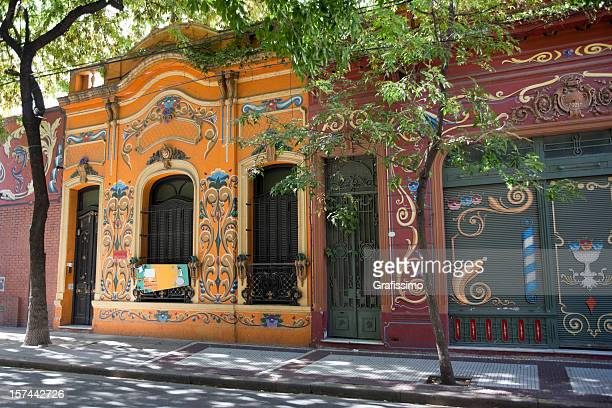 colourful houses in buenos aires argentina - buenos aires stock pictures, royalty-free photos & images