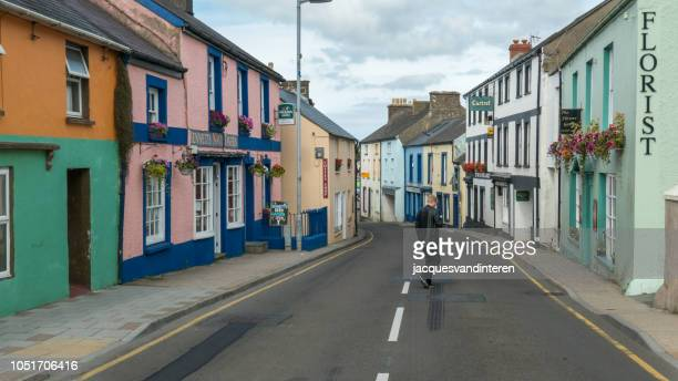 Colourful houses in Fishguard, Wales (United Kingdom)