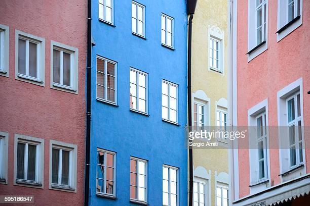 Colourful houses in Fussen, Germany