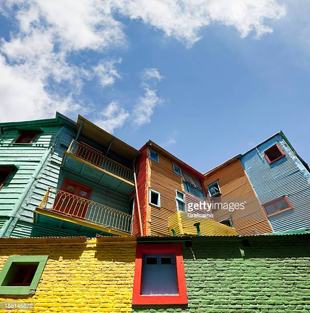 Colourful houses in La Boca Buenos Aires Argentina