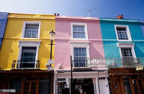 Colourful houses in Portobello