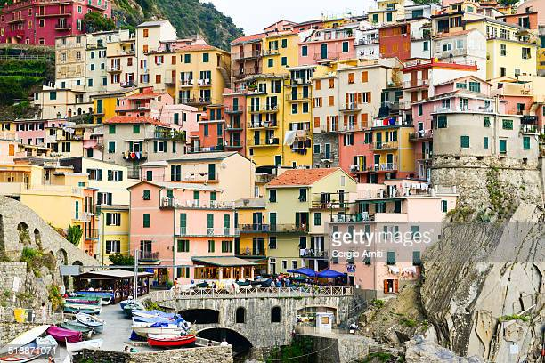 Colourful houses of Manarola