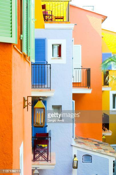 Colourful houses of Saint Tropez