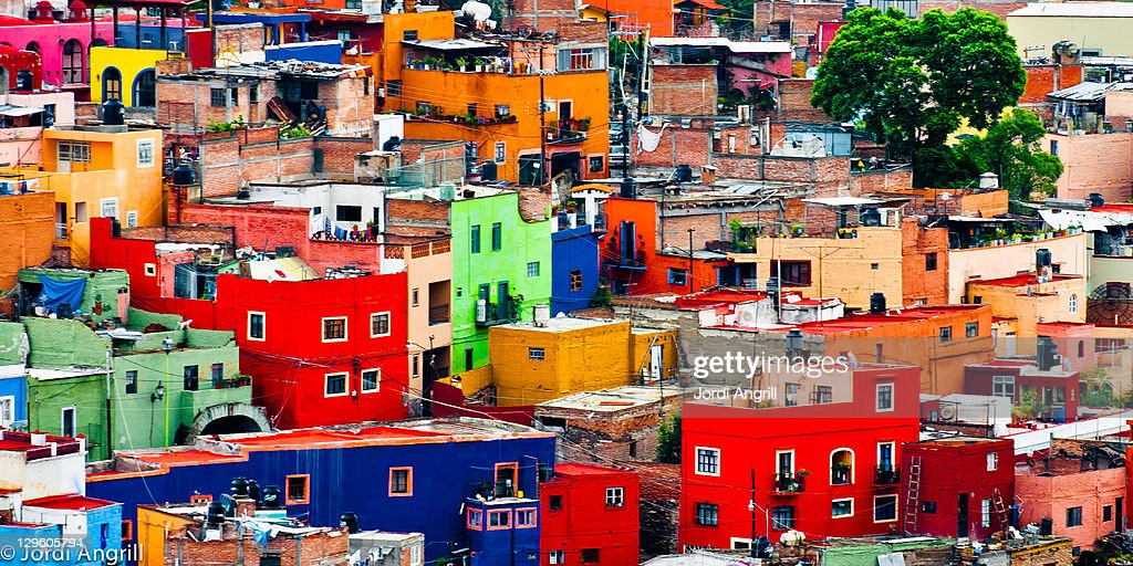 Colourful houses in Guanajuato.