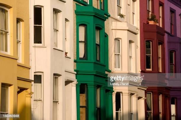 Colourful houses, Portobello Road, Notting Hill.