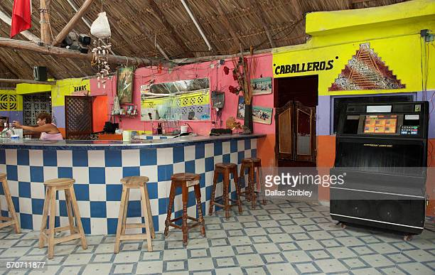 Colourful interior of the 'Inter Nechos' bar