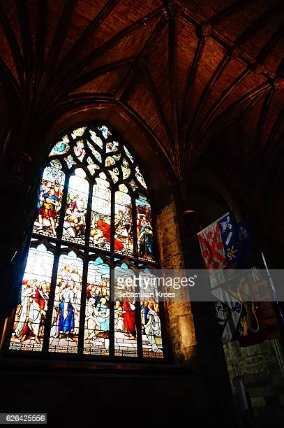 Colourful Interior Saint Giles Cathedral, Edinburgh, United Kingdom