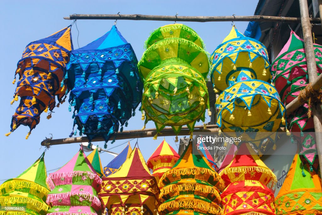 Colourful lanterns cloth lampshades handicraft work akashkandil hang colourful lanterns cloth lampshades handicraft work akashkandil hang shop sell celebrating diwali festival dadar aloadofball Images